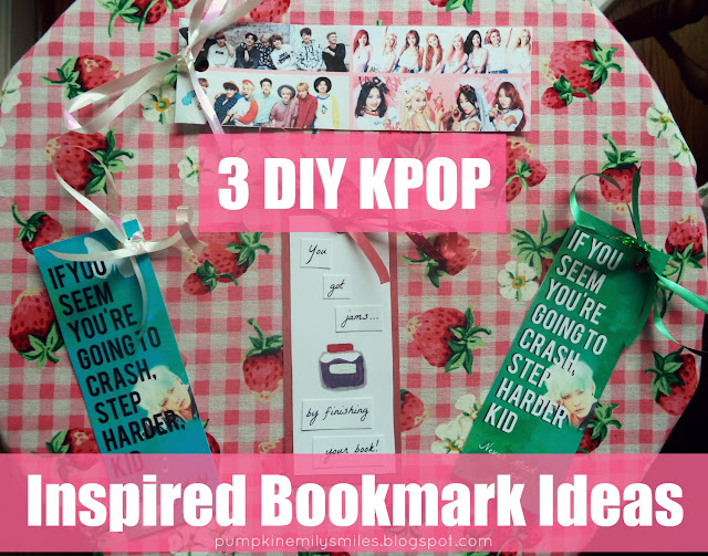 3 DIY KPOP Inspired Bookmark Ideas