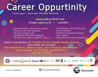 Karir Lowongan Kerja Toko Buku Gramedia Bandung Terbaru 2020