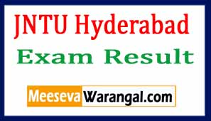 JNTU Hyderabad Results 2017  JNTU university Result