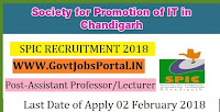 Society for Promotion of IT in Chandigarh Recruitment 2018 – Assistant Professor/Lecturer