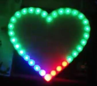 Hướng dẫn làm led trái tim RGB 7 màu Full Color