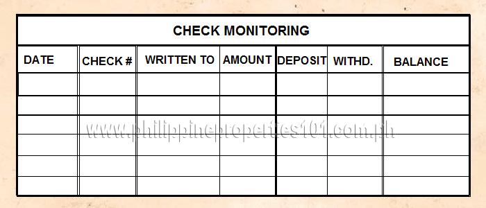 How to write a check?