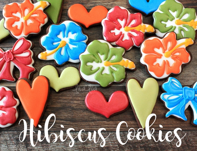 Decorated Luau cookies -- tutorial