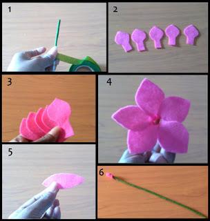 Tutorial membuat bunga alamanda bahan dari kain flanel part 1