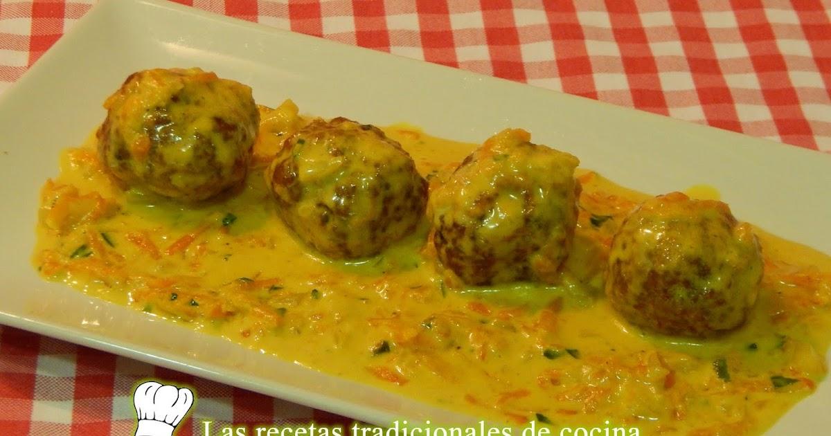 Alb ndigas de carne con salsa de curry recetas de cocina con sabor tradicional - Albondigas tradicionales ...