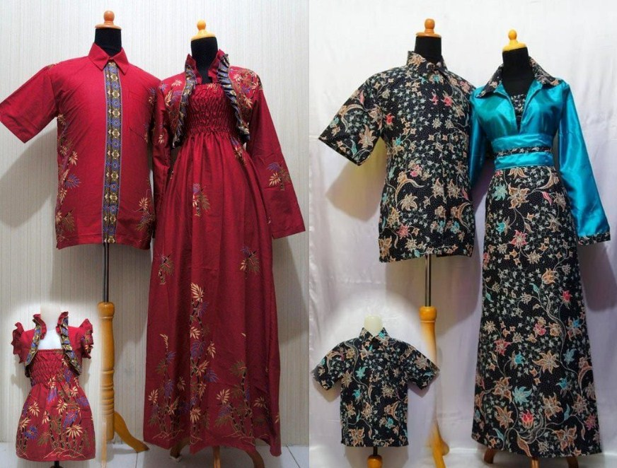 32 Model Baju Batik Embos Muslim Couple Kombinasi Sarimbit Motif