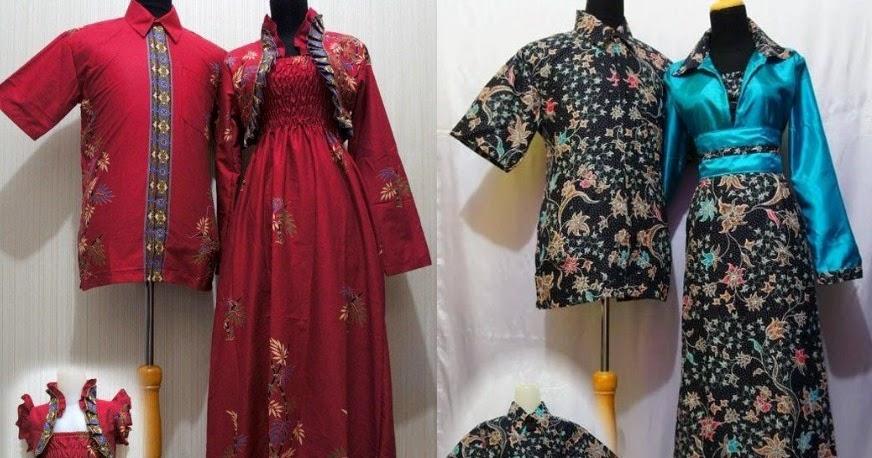 Model Gamis Batik Kombinasi Kain Embos