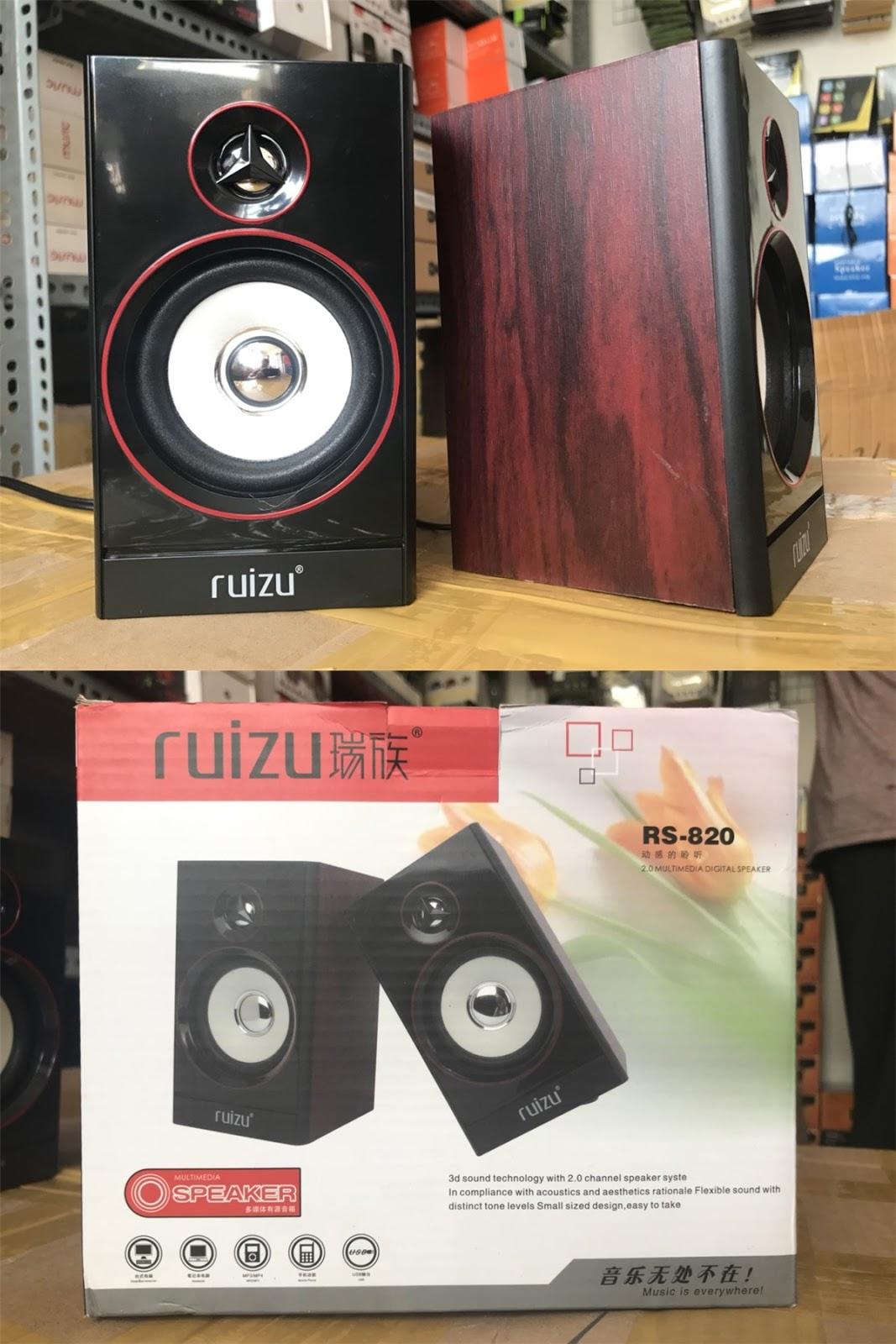 109k - Loa vi tính Ruizu RS820 vỏ gỗ giá sỉ và lẻ rẻ nhất