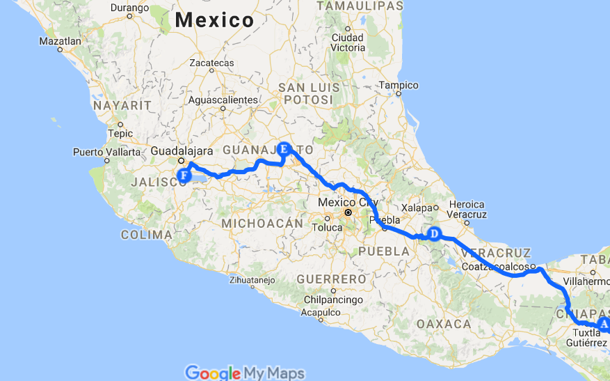 Pattyn Overland Travels through Mexico and Central America ... on ixtapan de la sal mexico map, excellence resorts mexico map, plaza garibaldi mexico map, ayotzinapa mexico map, tequesquitengo mexico map, anenecuilco mexico map, lagos de moreno mexico map, tenayuca mexico map, san miguel cozumel mexico map, punta chivato mexico map, chilapa mexico map, allende coahuila mexico map, lake cuitzeo mexico map, guanajuato mexico map, mazamitla mexico map, torreón mexico map, valle de bravo mexico map, colima volcano mexico map, coba mexico map, tulancingo mexico map,