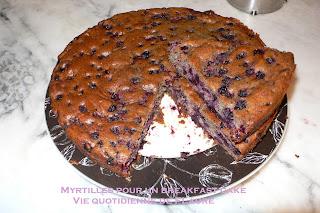 Vie quotidienne de FLaure: Myrtilles pour un breakfast cake