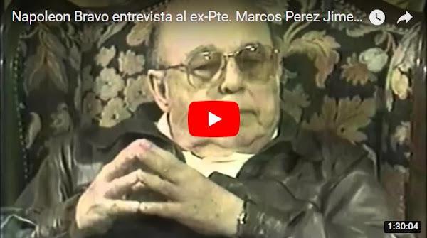 La entrevista de Napoleón Bravo a Marcos Perez Jimenez