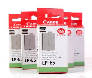 Baterai Canon LP-E5 Untuk Canon 1000D, Canon 450D, Canon 500d
