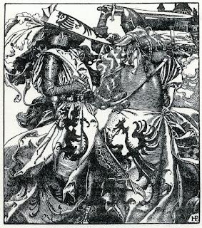 Howard Pyle - Sir Kay breaketh his sword at ye Tournament
