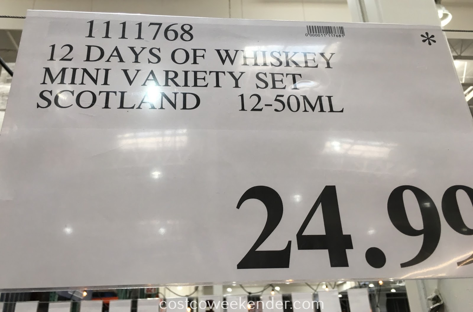 Deal for the 12 Days of Whiskey Mini Variety Set at Costco