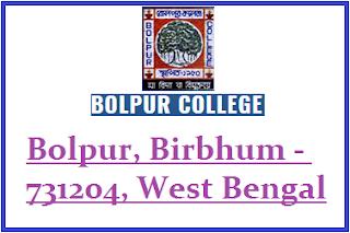 Bolpur College, Bolpur, Birbhum - 731204, West Bengal