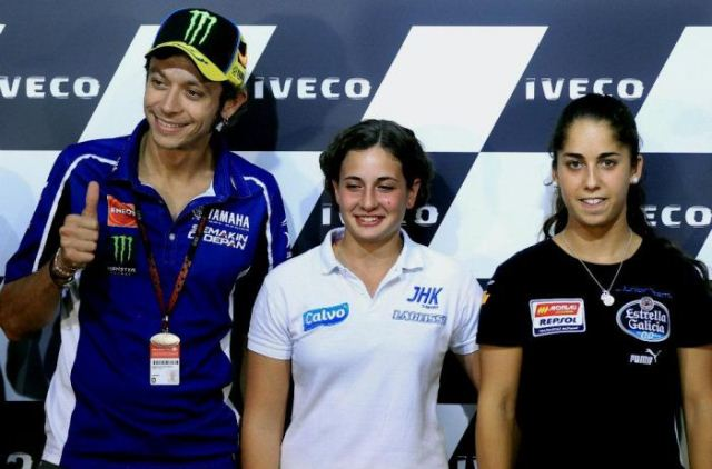Valentino Rossi, Ana Carrasco, Maria Herrera