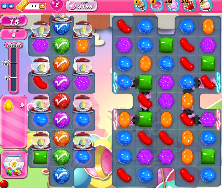 Candy Crush Saga level 2198