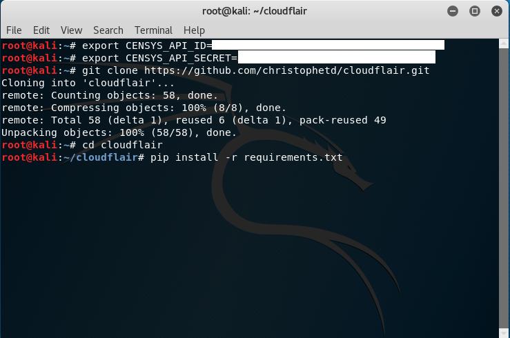 Kali Linux, installazione dipendenze di CloudFlair