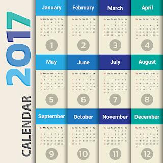 2017カレンダー無料テンプレート124