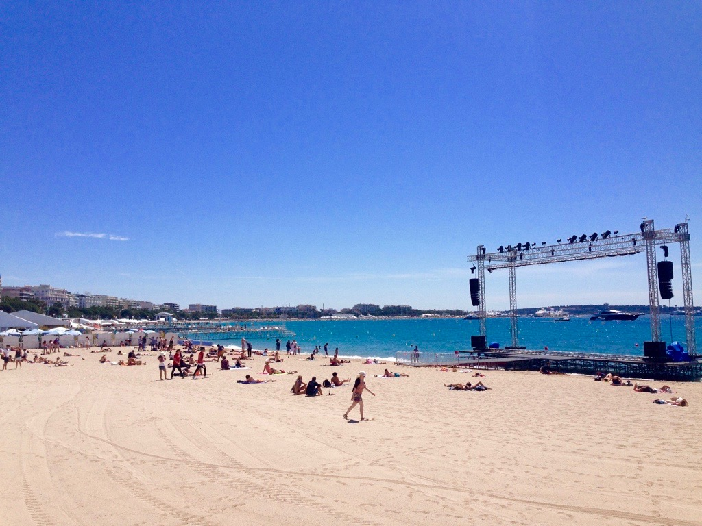Cannes beach