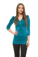 Bluza MissQ Natural Shine Turquoise