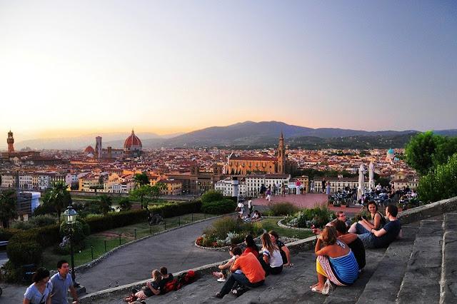 Piazzale Michelangelo em Florença na Itália