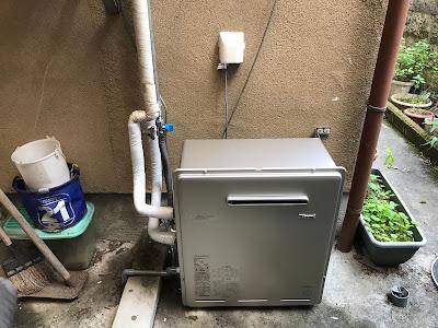 プロパンガス:給湯器の取替 据置台タイプ