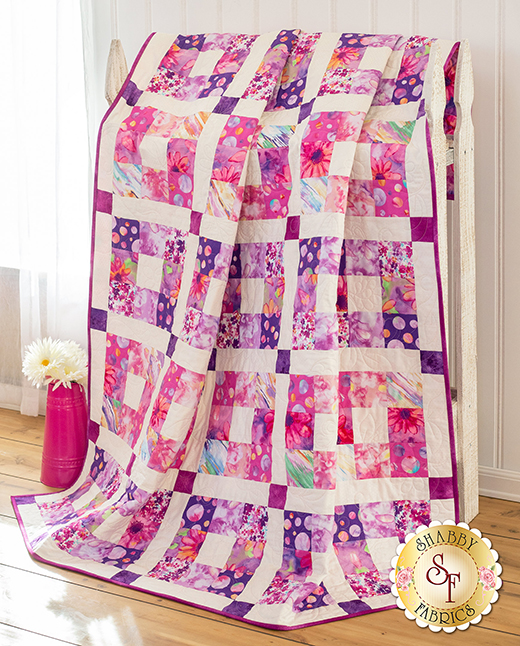 Pink Boxed In Quilt Free Tutorial designed by Jennifer Bosworth of Shabby Fabrics