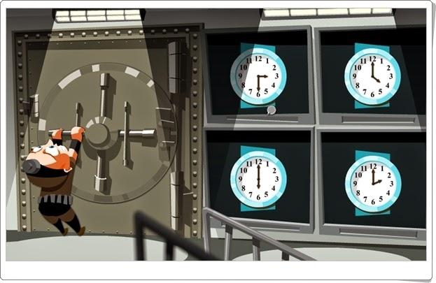"""""""La máquina de los relojes"""" (Juego de tipos de ángulos de Primaria)"""