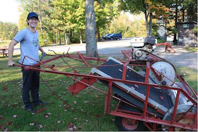 Erntemaschine in Ontario