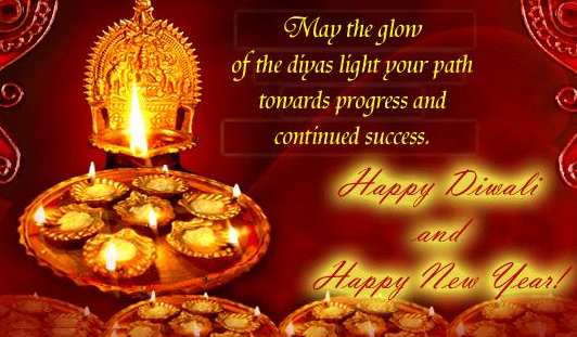 May the glow of the diyas lights your path towards progress and continued success