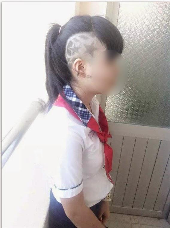 Sốc với kiểu tóc của nữ sinh cấp 2 Đồng Nai