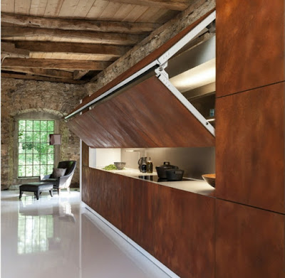 contemporary hidden kitchens 2016 integrated in rustic interior