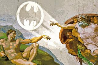 Pinturas famosas trasformadas en Batman pop art.