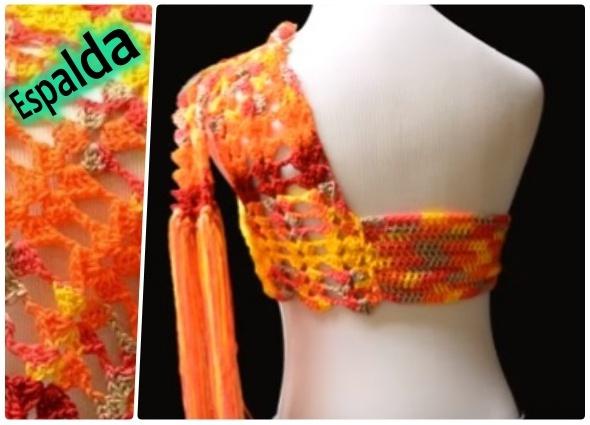 top, blusa oranda, tejido a crochet, patrones para crochet