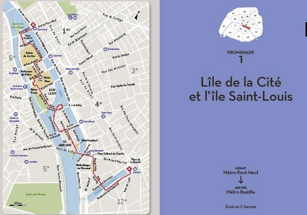 Parcours des îles de Paris