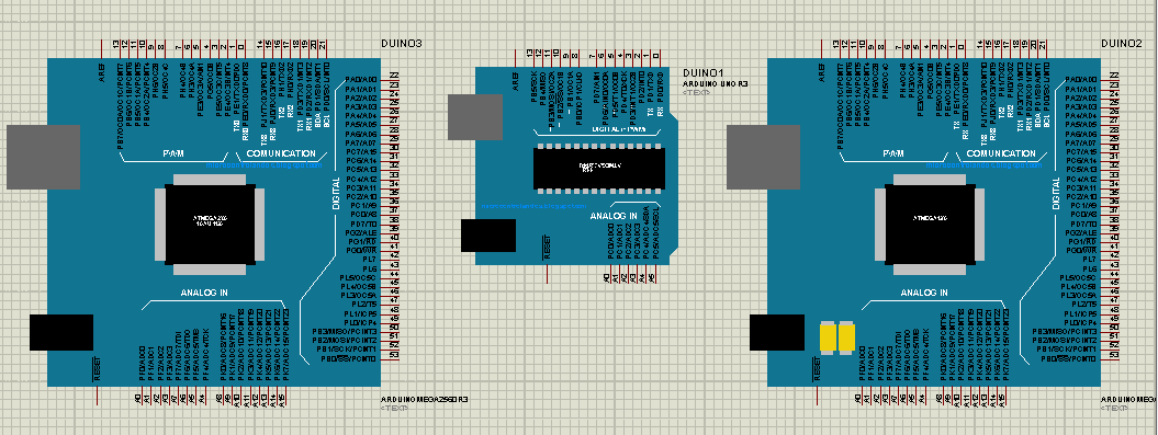 Electronic connectors arduino library for proteus simulation