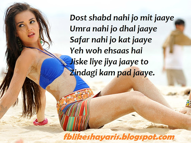 Dost shabd nahi jo mit jaaye - Friendship Shayari