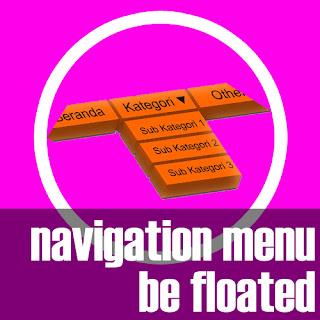 Menu Navigasi Menjadi Melayang