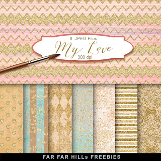 New Freebies Kit  Backgrounds  - My Love