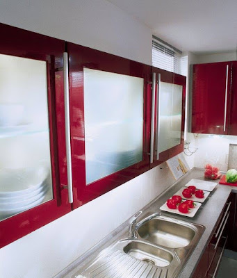 Dwell of decor modern red kitchen designs for Modern red decor