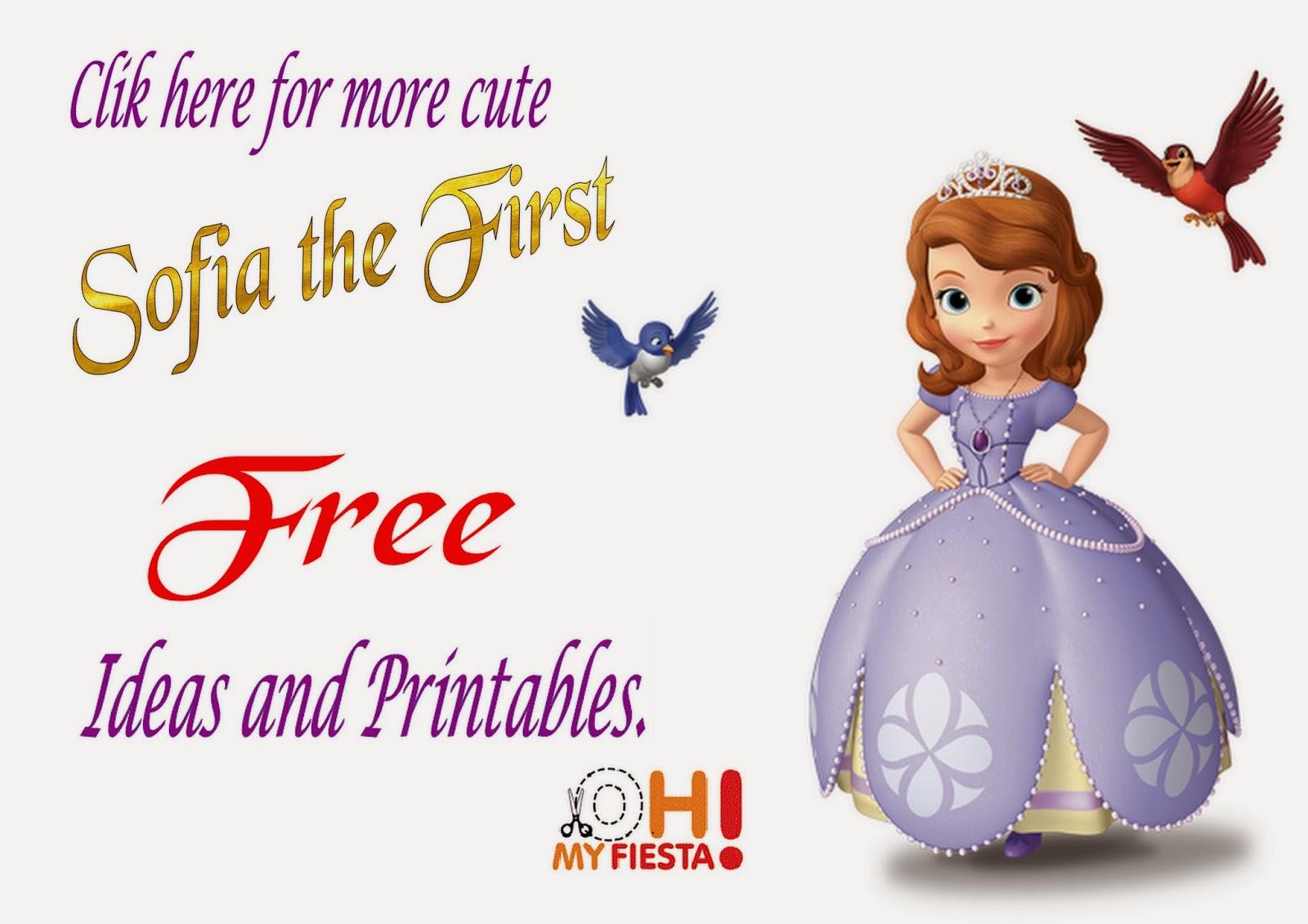 Sofia The First Free Printables