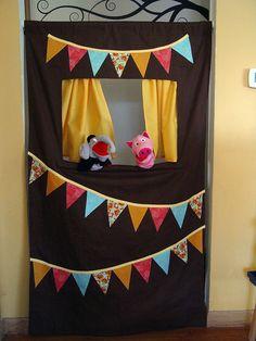 Sugestões para fazer um teatrinho de fantoches em casa