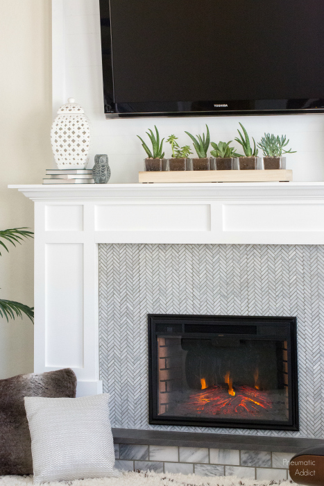 diy white marble electric fireplace renter friendly building plans