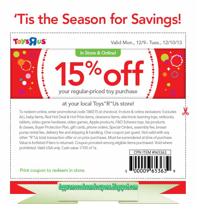 photo regarding Printable Toysrus Coupon identify No cost Promo Codes and Discount coupons 2019: Toys R Us Discount coupons