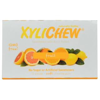 لبان بنكهة عرق الحمضيات   Xylichew Gum, Black Licorice Gum, Sweetened with Birch Xylitol, 12 Pieces
