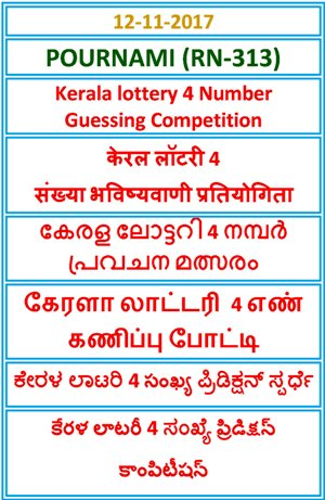 4 Number Guessing Competition POURNAMI RN-313