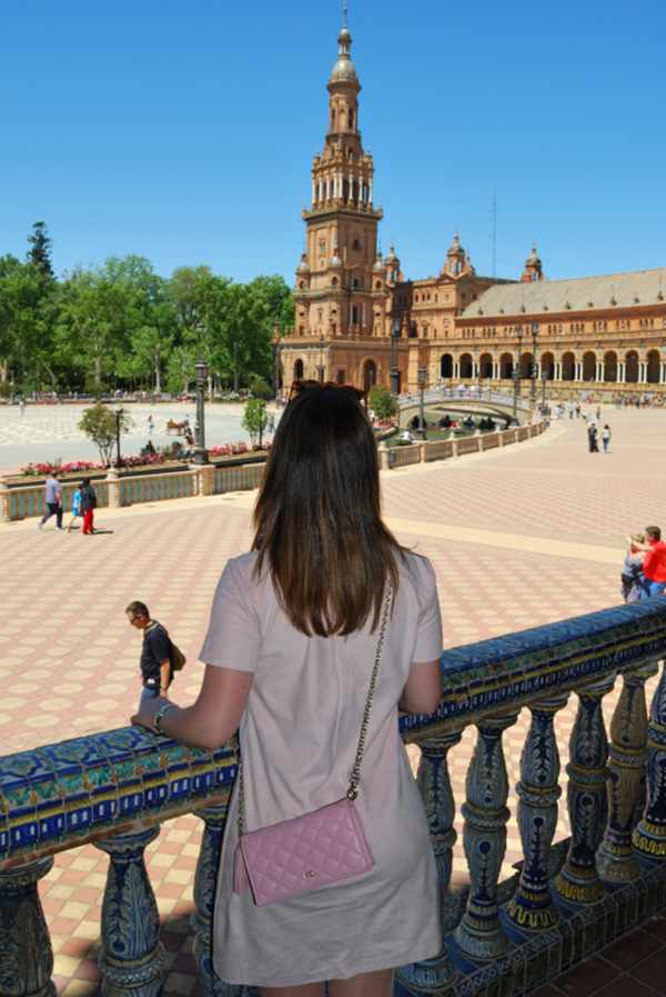 plaza españa seville spain view