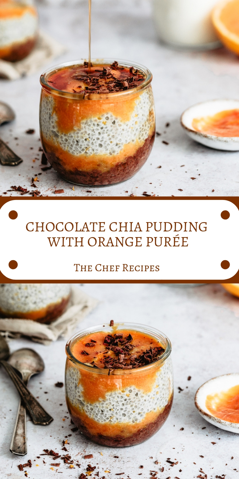 CHOCOLATE CHIA PUDDING WITH ORANGE PUREE