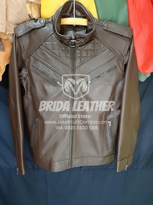 Jual Jaket Kulit Asli Garut Pria Domba Original Brida Leather M04 | WA 08813430588